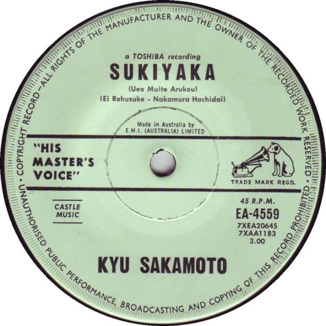 kyu-sakamoto-sukiyaka-ueo-muite-aruyou-his-masters-voice